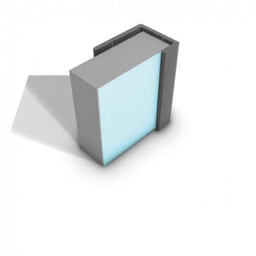 Multipanel Reflect 'L' Shaped End Cap - Aqua