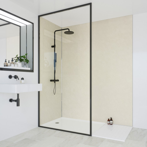 Multipanel Classic 2400mm x 1200mm Plain Edge Wall Panel - Riven Marble