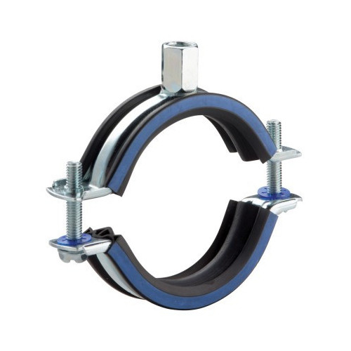 Rubber Lined Pipe Clip - 50-58mm