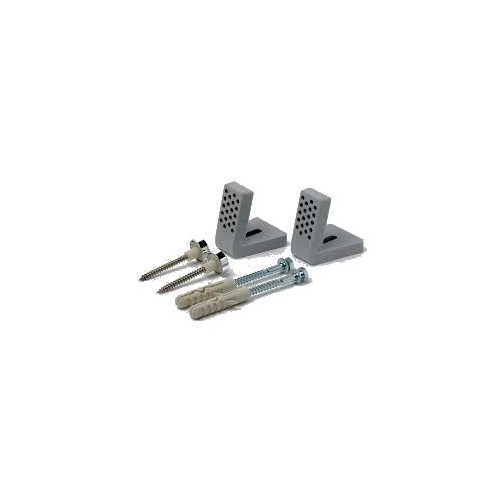 Forgefix 'L' Shaped Sanitary Fixing Brackets + Screws + Cover Caps 10mm x 50mm