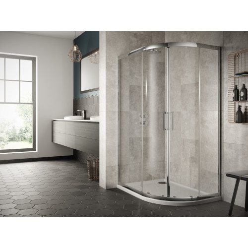 Sommer 8 900mm x 760mm Offset Double Sliding Door Quadrant Enclosure