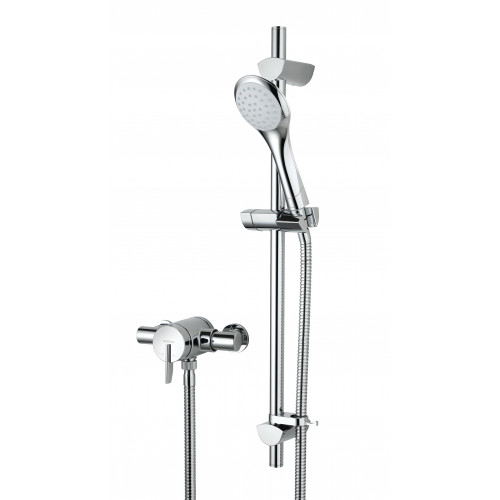 Bristan Sonique Exposed Shower Valve + Shower Rail Kit
