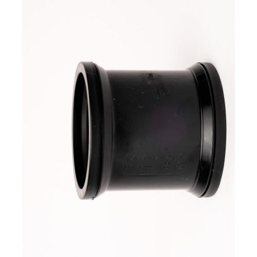 Davant Double Pipe Slip Coupling (Black) - 110mm