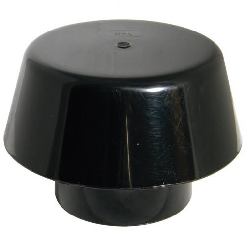 Davant Mushroom Vent Teminal (Black) - 110mm