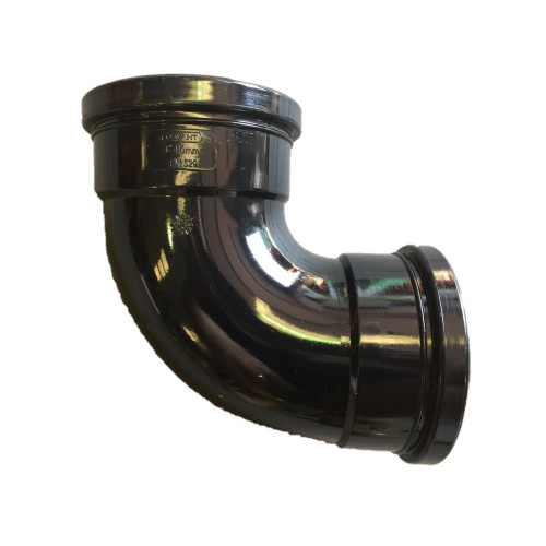Davant 90° Elbow Double Socket Solvent (Black) - 110mm
