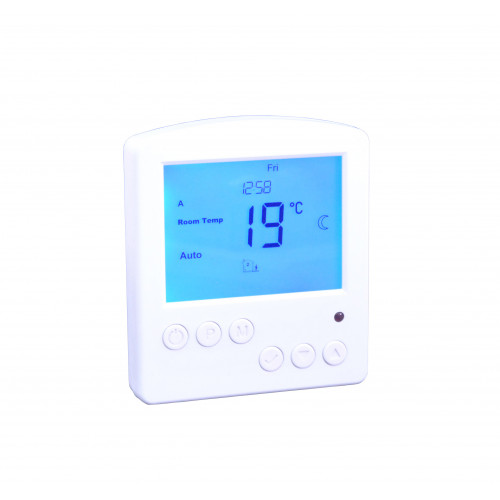 Snug Floor & Air Sensing White Button Press Programmable Controller