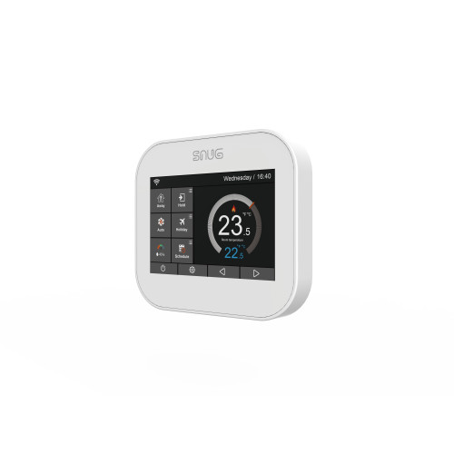 Snug Floor & Air Sensing White Touch Screen Programmable Controller