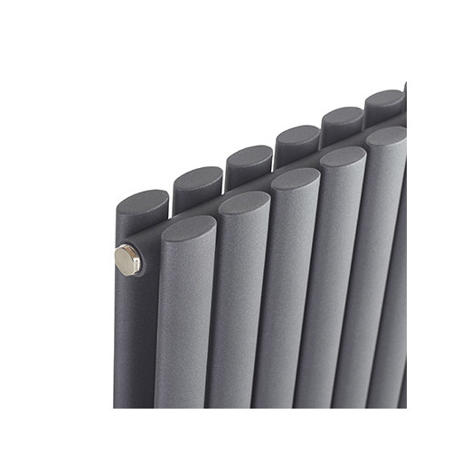 Biasi Sofia 1800mm x 410mm Vertical Double Anthracite Radiator  - Sofia Vertical Double Anthracite