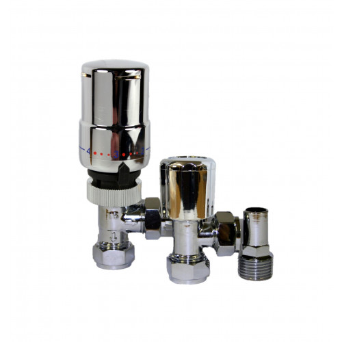 15mm Premium Angled Thermostatic Radiator Valve