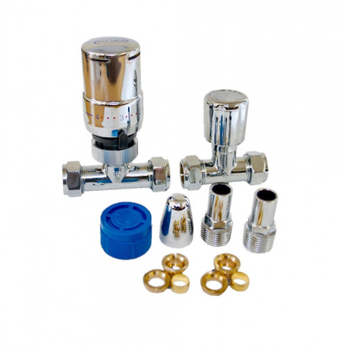15mm Premium Straight Thermostatic Radiator Valve