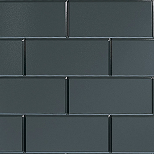 Multipanel Tile 2440mm x 1220mm Vertical Brick Panel - Black