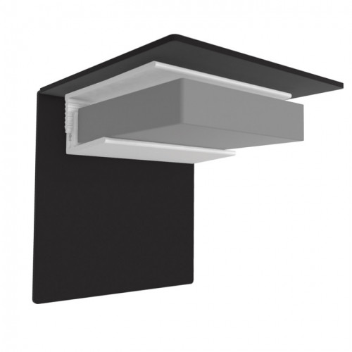 Multipanel Ceiling 'L' Shaped End Cap - Silver