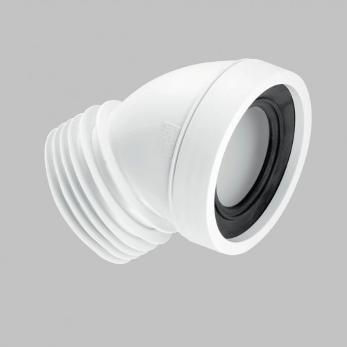 McAlpine 45* Angled Rigid Pan Connector