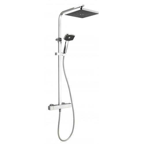 Methven Waipori Satinjet Cool Touch Bar Shower Valve + Rigid Riser Shower Kit