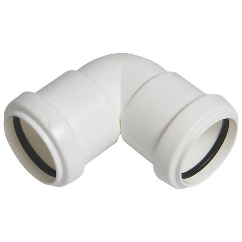 Flolast Pushfit 90° Elbow (White) - 40mm