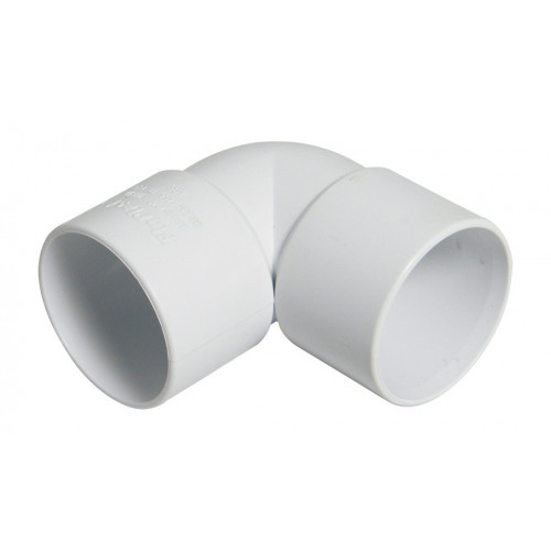 Floplast ABS Solvent Weld 90° Elbow (White) - 40mm