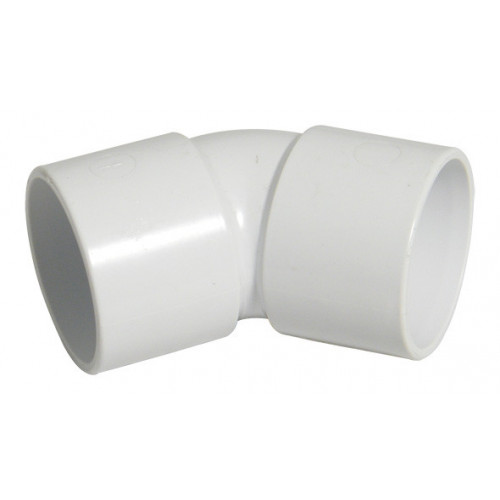 Floplast ABS Solvent Weld 45° Elbow (White) - 40mm