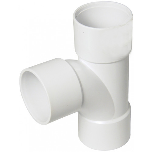 Floplast ABS Solvent Weld Swept Tee (White) - 40mm