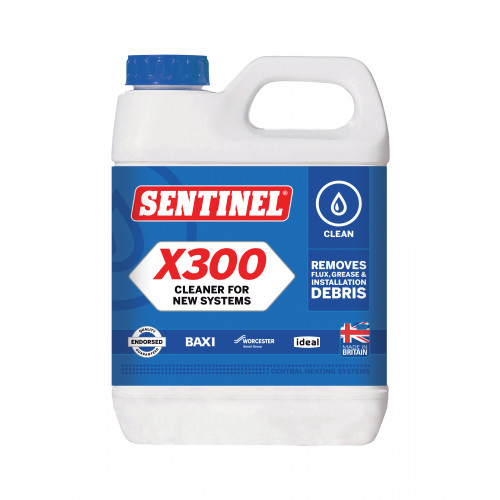 Sentinel X300 Universal Central Heating Cleaner - 1Ltr