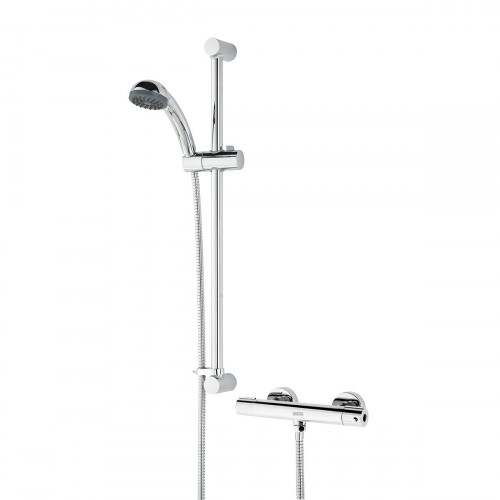 Bristan Zing Cool Touch Bar Shower + Shower Rail Kit & Easy Mounts