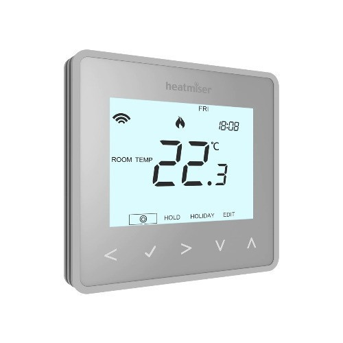 Heatmiser neoAir Wireless Smart Thermostat Control - Silver