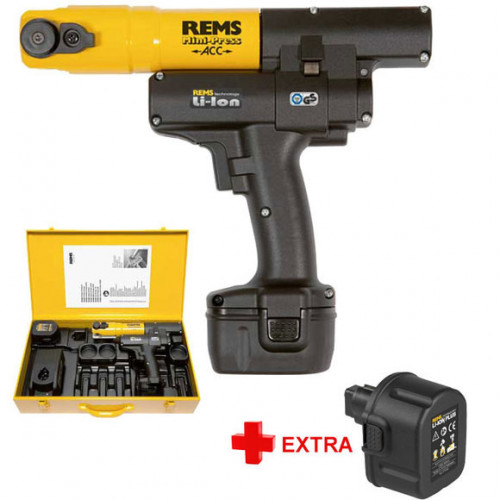 Rems 14v Minipress Crimping Tool + 2 Batteries